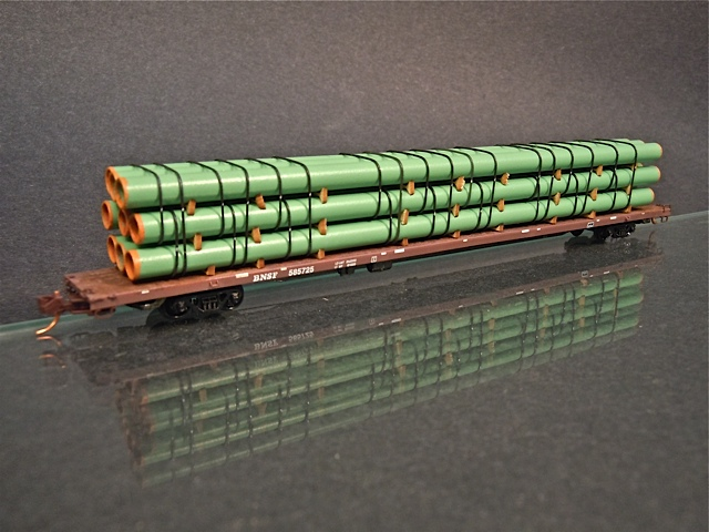 N scale large diameter line pipe load stack protoloads