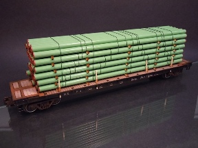 O Scale Modern Coated Steel Line Pipe Load 288