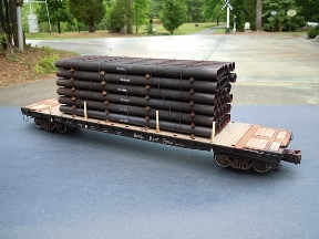 O Scale Raw Steel Pipe Load 288